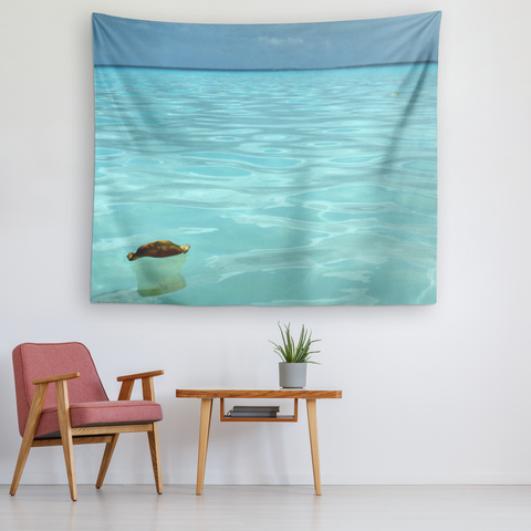 Leaf on the water -  Original and Exclusive wall art Tapestry