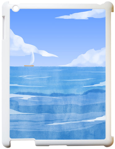 Yacht In The Blue Ipad Case