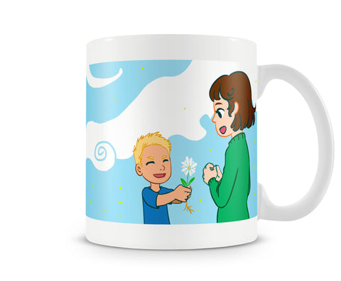 Give A Flower - Mother Son Mug