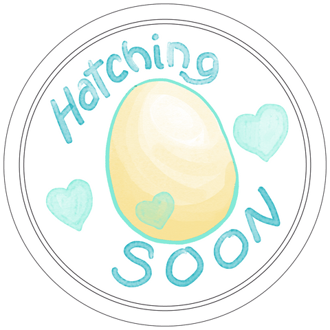 Hatching Soon Button Badge