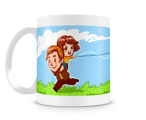 Flying A Kite - Father Daughter Mug