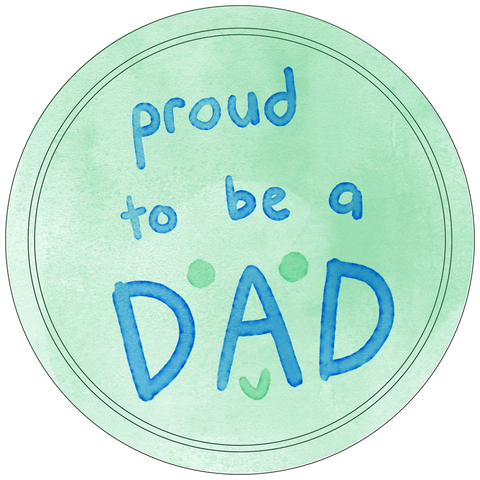 Proud Dad Button Badge