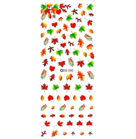 Autumn Leaves Nail Water Decals / DS-090