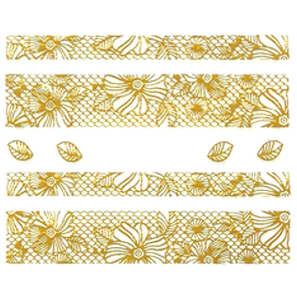 Nail Adhesive Sticker / Gold / D102