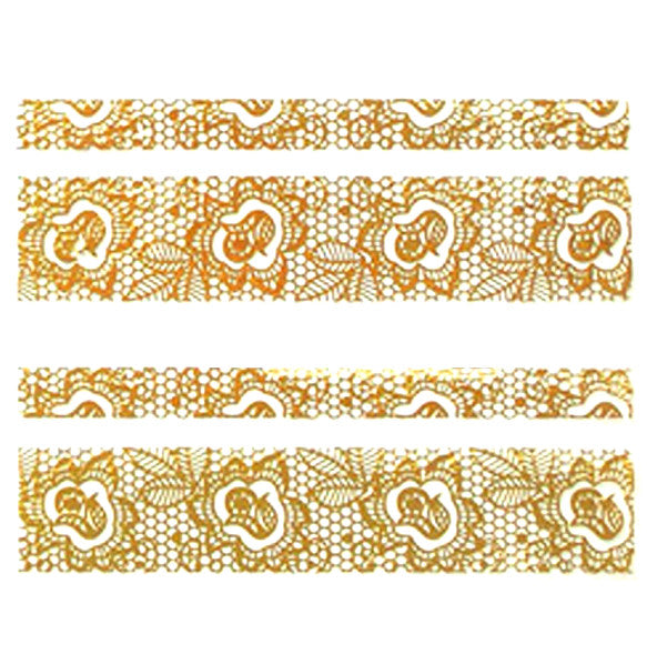 Nail Adhesive Sticker / Gold / D103