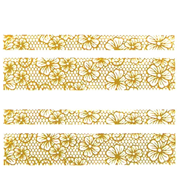 Nail Adhesive Sticker / Gold / D105