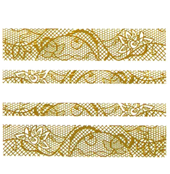Nail Adhesive Sticker / Gold / D106