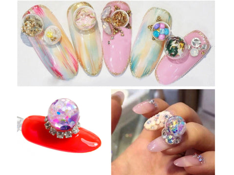 Water Globe 3D Nail Art / 10mm Ball