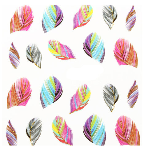 Feathers Nail Water Decals / 1724