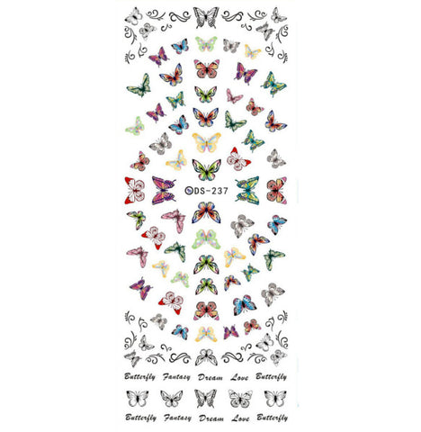Fantasy Butterfly Nail Water Decals / DS-237