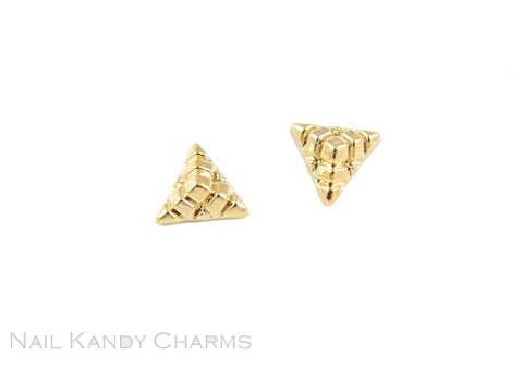 Pyramid / Gold - 5pcs