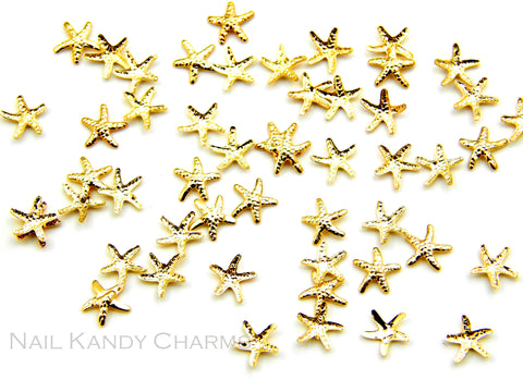 Starfish Studs 5mm / Gold - 20 pcs