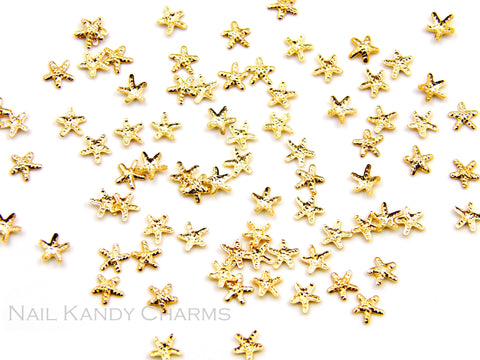 Starfish Studs 3mm / Gold - 20 pcs