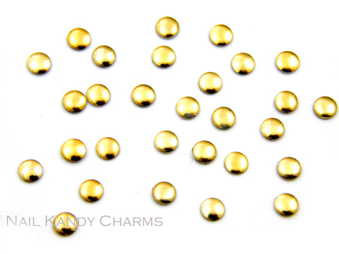 Round Studs 3 mm / Gold - 100 pcs