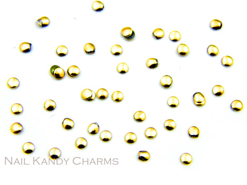 Round Studs 2 mm / Gold / 100 pcs
