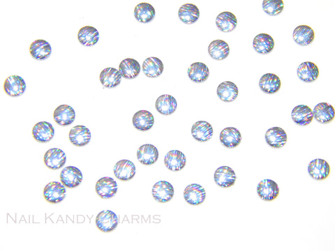 Round Studs 3mm / Holographic - 100 pcs