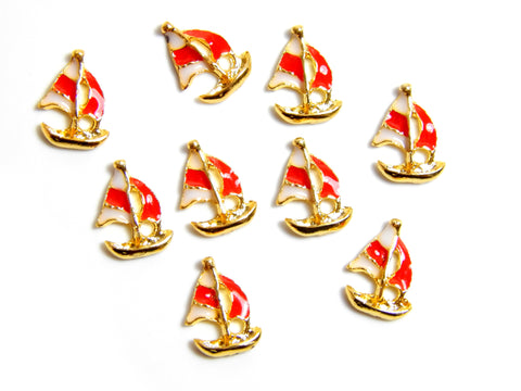 Trailer Sailer Boat Charm