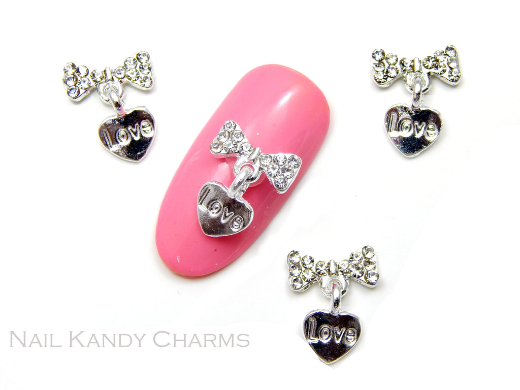 Love Heart Bow / Clear