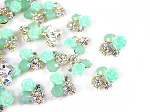 Mint Green Rose Cluster