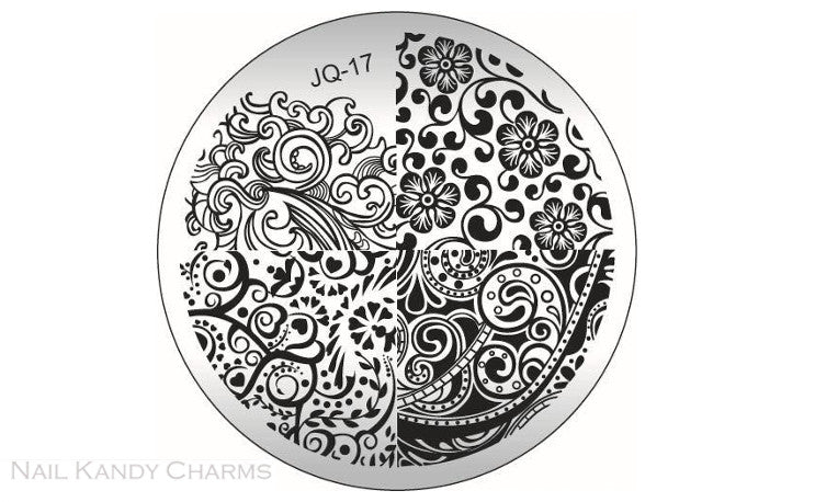 JQ-17 Nail Art Stamping Plate Template