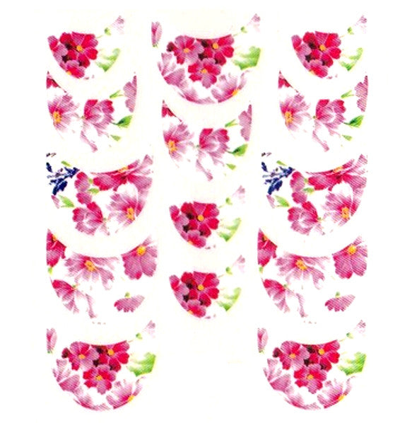 Floral French Tips Water Slide Decal / 057