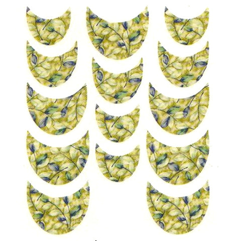 Floral French Tips Water Slide Decal / 059