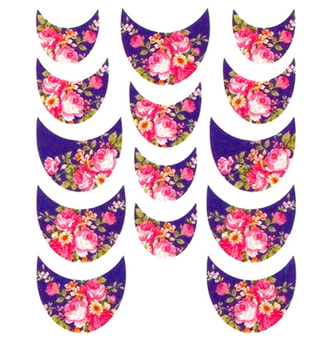 Floral French Tips Water Slide Decal / 061