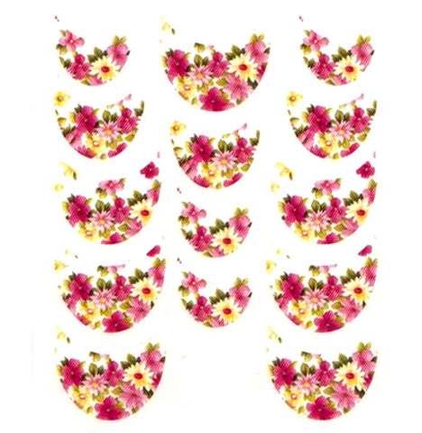 Floral French Tips Water Slide Decal / 062