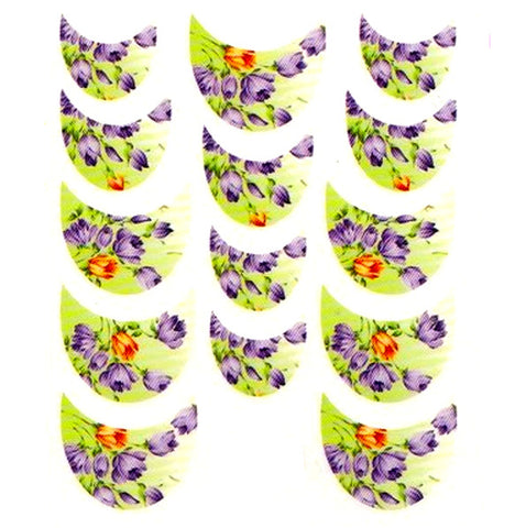 Floral French Tips Water Slide Decal / 063