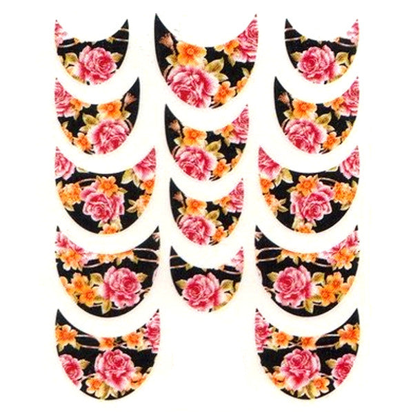 Floral French Tips Water Slide Decal / 064