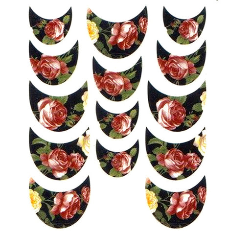 Floral French Tips Water Slide Decal / 066