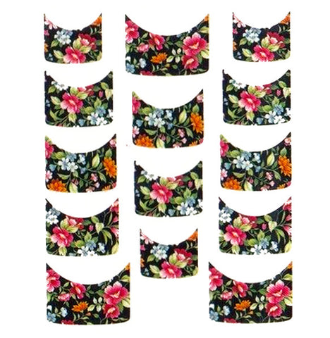 Floral French Tips Water Slide Decal / 067