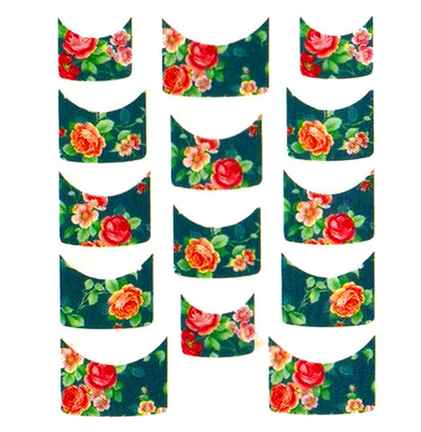 Floral French Tips Water Slide Decal / 068