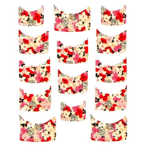 Floral French Tips Water Slide Decal / 074