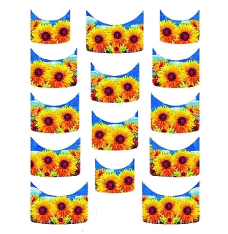 Floral French Tips Water Slide Decal / 111