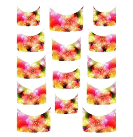 Floral French Tips Water Slide Decal / 112