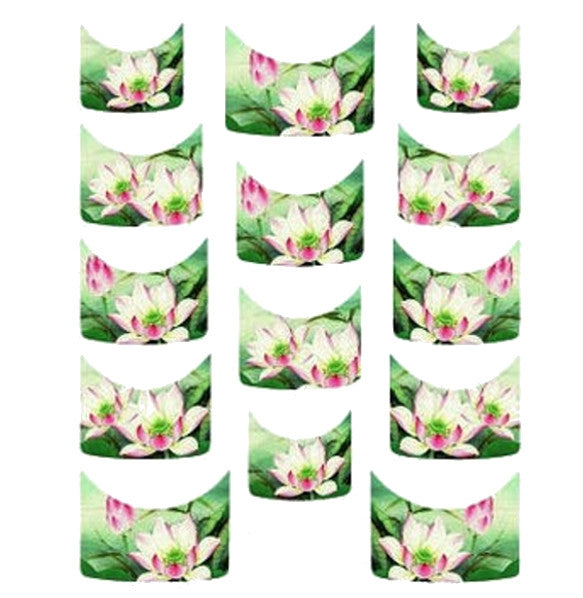 Floral French Tips Water Slide Decal / 113