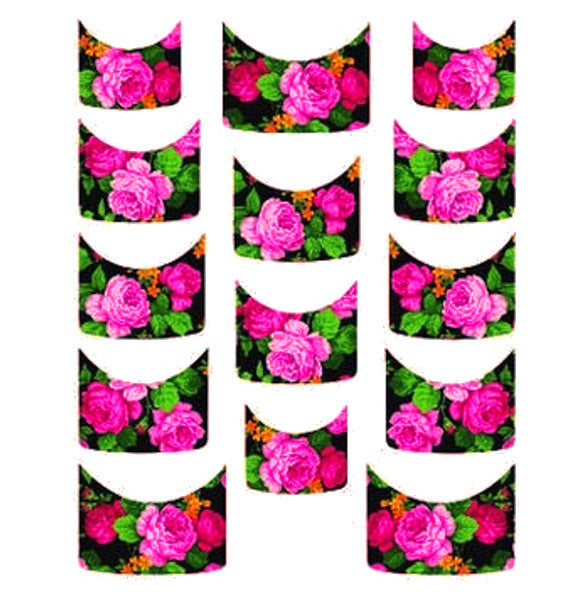 Floral French Tips Water Slide Decal / 114