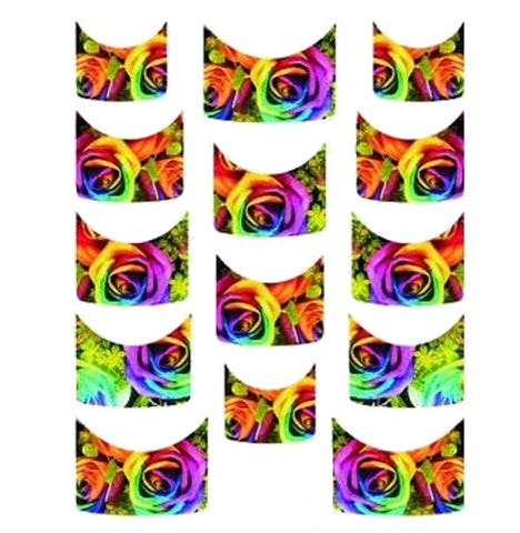 Floral French Tips Water Slide Decal / 117