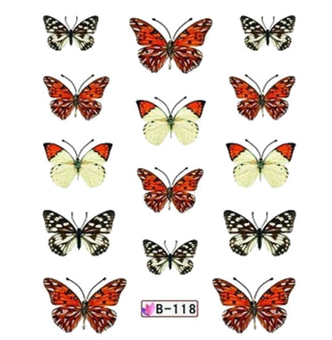 Butterfly French Tips Water Slide Decal / 118