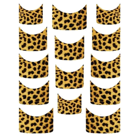 Cheetah French Tips Water Slide Decal / 120