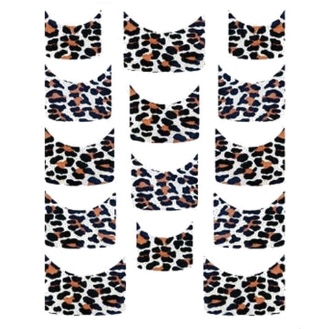 Leopard French Tips Water Slide Decal / 121