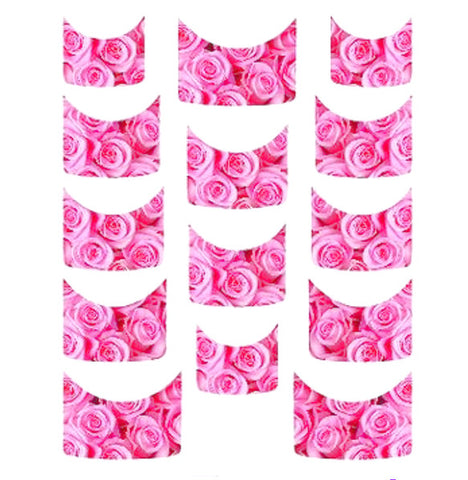 Pink Rose French Tips Water Slide Decal / 133