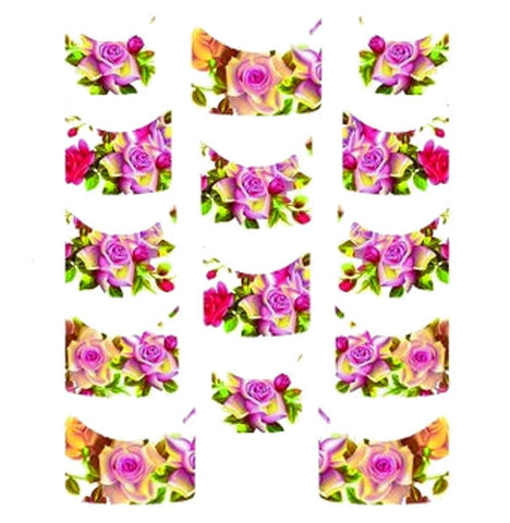 Floral French Tips Water Slide Decal / 136