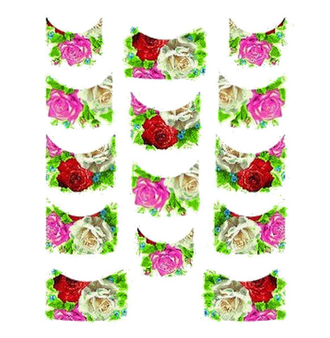 Floral French Tips Water Slide Decal / 137