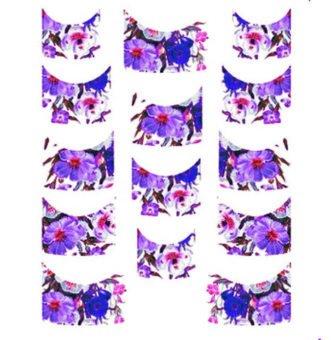 Floral French Tips Water Slide Decal / 138