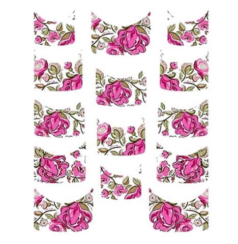Floral French Tips Water Slide Decal / 140
