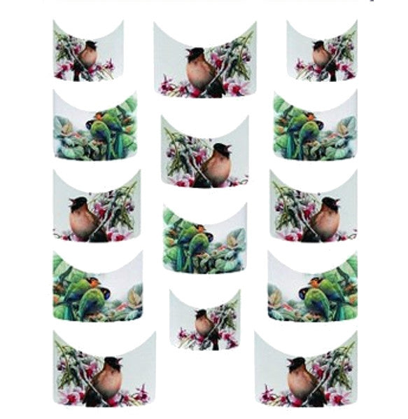 Birds French Tips Water Slide Decal / 141