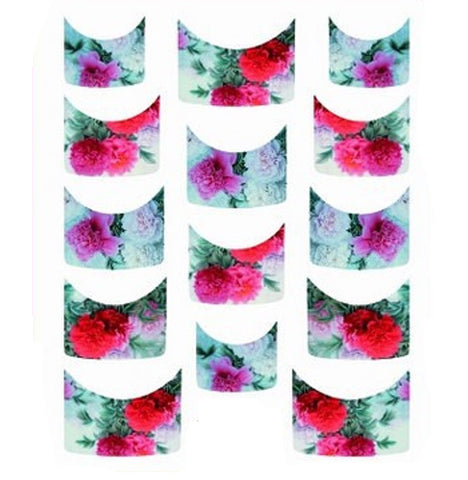 Floral French Tips Water Slide Decal / 142