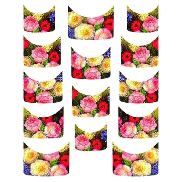 Floral French Tips Water Slide Decal / 143